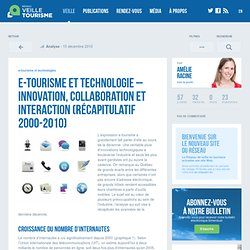 » e-tourisme et technologie – Innovation, collaboration et interaction (récapitulatif 2000-2010)