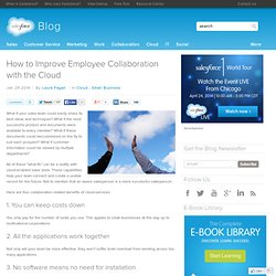 How to Improve Employee Collaboration with the Cloud