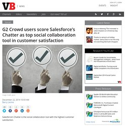 G2 Crowd users score Salesforce's Chatter as top social collaboration tool in customer satisfaction