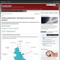 NATURE 13/08/14 Online collaboration: Scientists and the social network