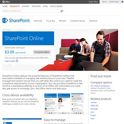 SharePoint Online | Business Productivity Online Standard Suite