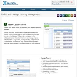 VMS Team Collaboration Software by SpendVu