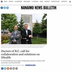 Doctors of B.C. call for collaboration and solutions on IHealth - Nanaimo News Bulletin