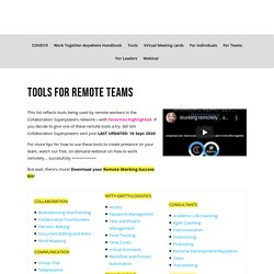 Tools for remote teams - Collaboration Superpowers
