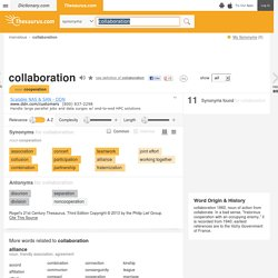 Collaboration Synonyms, Collaboration Antonyms