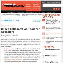 8 Free Collaboration Tools for Educators