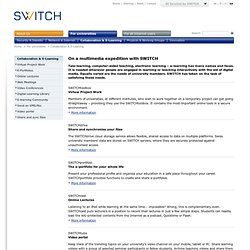 SWITCH Swiss Project - For Universities Collaboration & E-Learning