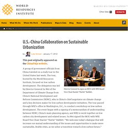 U.S.-China Collaboration on Sustainable Urbanization