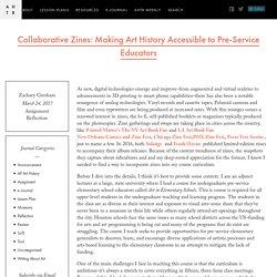 Collaborative Zines: Making Art History Accessible to Pre-Service Educators