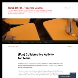 (Fun) Collaborative Activity for Teens