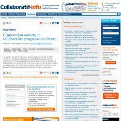 L'innovation ouverte et collaborative progresse en France