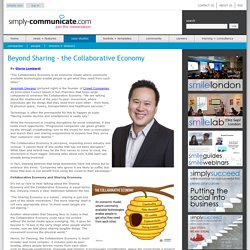 Beyond Sharing - the Collaborative Economy