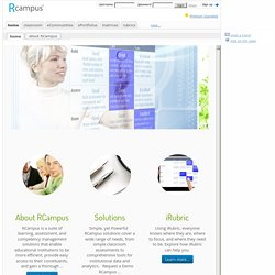 RCampus home - A Collaborative Learning Community. - RCampus