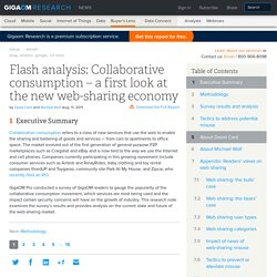 Flash analysis: Collaborative consumption – a first look at the new web-sharing economy