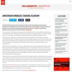 Amsterdam embraces sharing economy