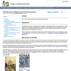Collaborative Mapping & Crowdsourcing - Map Makerpedia