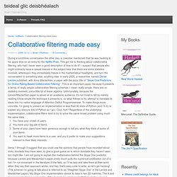 clever, witty blog title » Blog Archive » Collaborative filterin