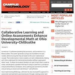 Collaborative Learning and Online Assessments Enhance Developmental Math at Ohio University-Chillicothe