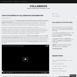 Four categories of collaborative documentary « CollabDocs