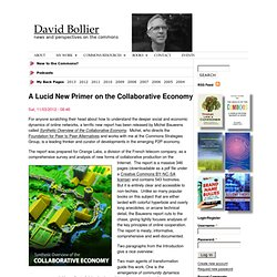 A Lucid New Primer on the Collaborative Economy