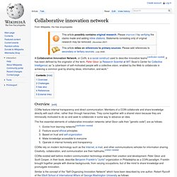 Collaborative innovation network