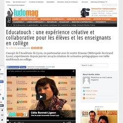 Educatouch : une expérience créative et collaborative pour les élèves et les enseignants en collège