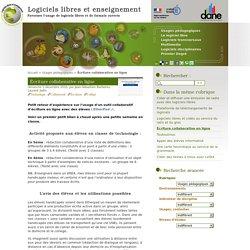 Écriture collaborative en ligne - Logiciels libres et enseignement