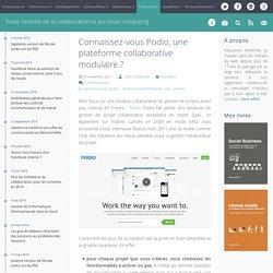 Podio, gestion projet : plateforme collaborative