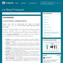 L'économie collaborative - Le Blog Finsquare