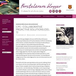 CPS – Collaborative Proactive Solutions (del 1)