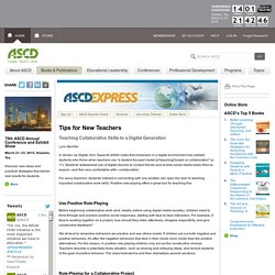 Express 6.11 - Tips for New Teachers: Teaching Collaborative Skills to a Digital Generation