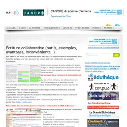 Écriture collaborative (outils, exemples, avantages, inconvénients…)
