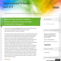 How do blogs help EFL students become academic writers through collaborative dialogues