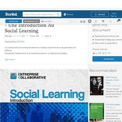 Entreprise Collaborative - Une Introduction Au Social Learning
