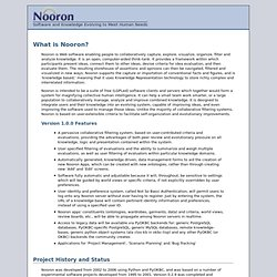 Nooron - Software for Collaborative, Criteria-based Knowledge Sharing