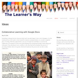Collaborative Learning with Google Docs