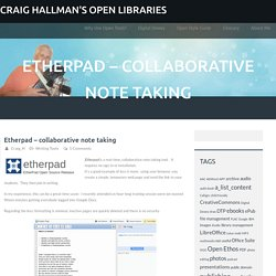 Etherpad – collaborative note taking