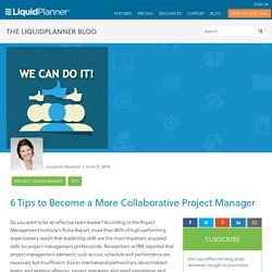 6 Tips to Become a More Collaborative Project Manager - LiquidPlanner