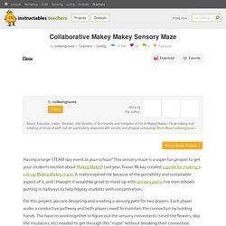 Collaborative Makey Makey Sensory Maze : 5 Steps