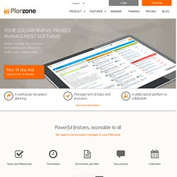 Collaborative Project Management Software | Planzone