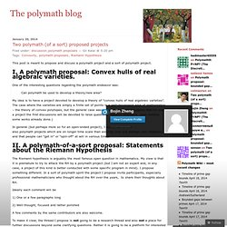 The polymath blog