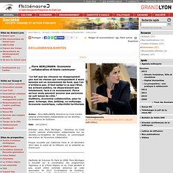 Flore BERLINGEN- Economie collaborative et biens communs-