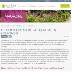 Économie collaborative, économie en mouvement