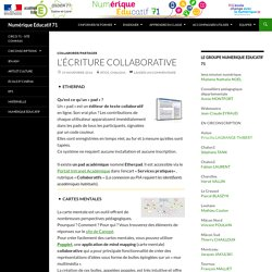 L'écriture collaborative