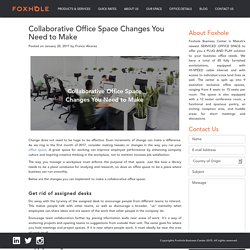 Collaborative Office Space Changes You Need to Make