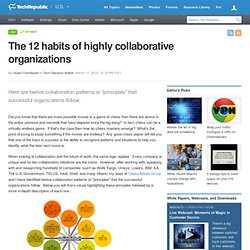 The 12 habits of highly collaborative organizations