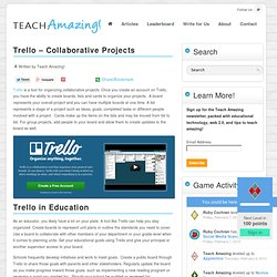 Trello – Collaborative Projects