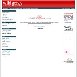WikiGenes - Collaborative Publishing