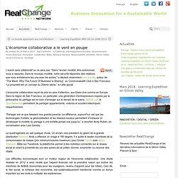 L'économie collaborative a le vent en poupe - RealChange