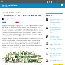 Collaborative Blogging as a Reflective Learning Tool